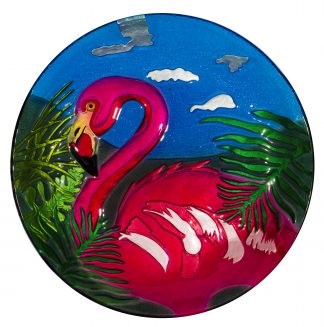 Flamingo Glass Plate
