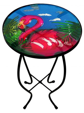 Fused Glass Flamingo Table