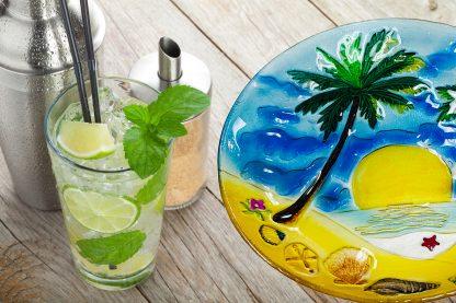 Palm Tree Glass Plate