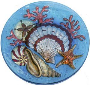 Seashell Glass Plate