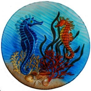 Seahorse Glass Plate