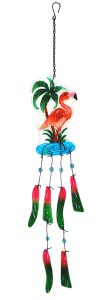 Flamingo Glass Wind Chime