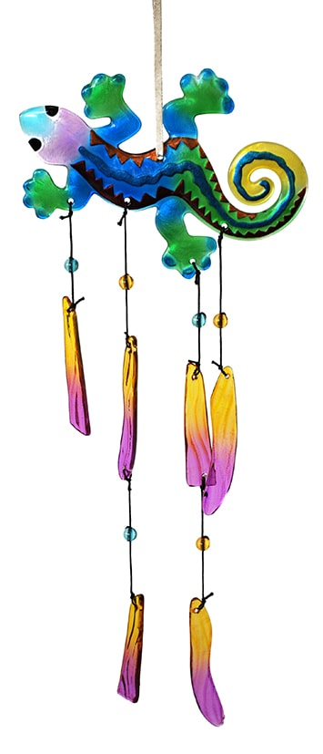 Gecko Glass Wind Chime