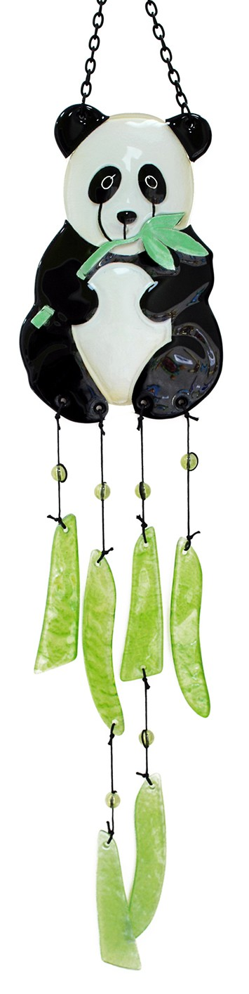 Panda Glass Wind Chime