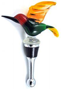 Hummingbird Glass Bottle Stopper