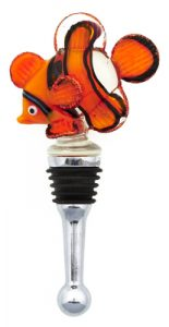 Clownfish Glass Bottle Stopper