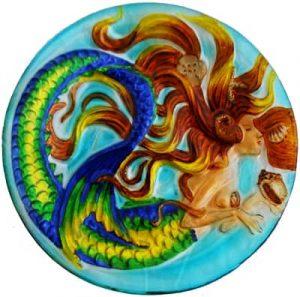 Mermaid Glass Plate
