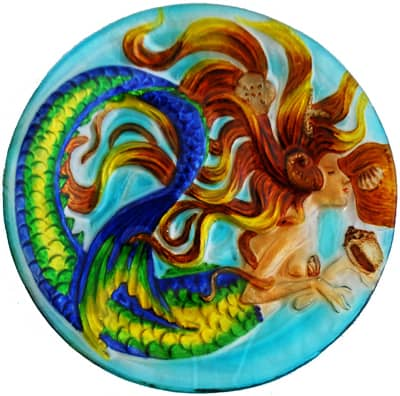 Mermaid Glass Plate