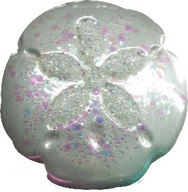 Sand Dollar Blown Glass Christmas Ornament