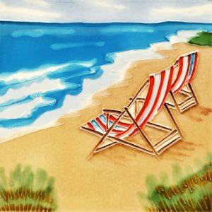 Beach Chair Tile Trivet