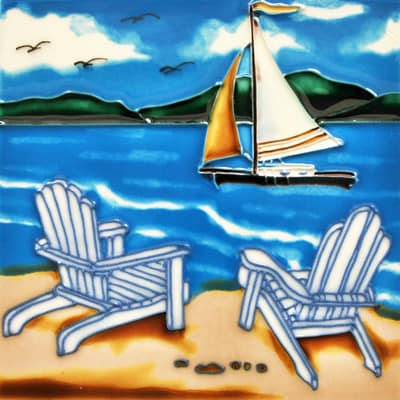 Beach Scene Tile Trivet