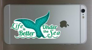 Mermaid Tail Decal for Cellphone 1