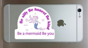 Be a Mermaid Decal for Cellphone 1