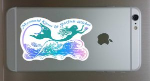 Mermaid Kisses Decal for Cellphone 1