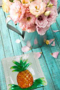 Pineapple Glass Plate