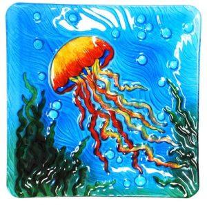 Jellyfish Glass Plate