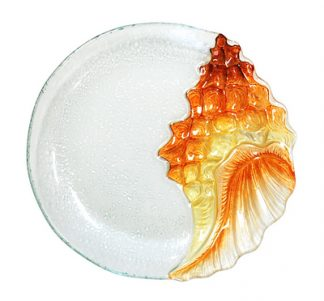 Conch Glass Plate