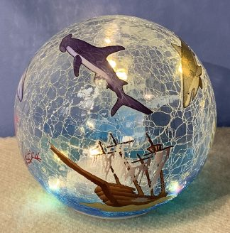 "Shark Glass LED Globe Light - 6"" 2"