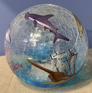 "Shark Glass LED Globe Light - 6"" 1"