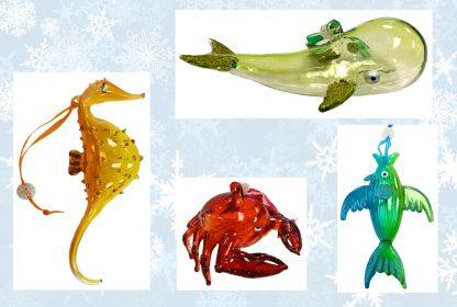 Sealife Glass Christmas Ornaments