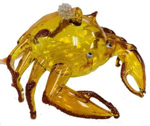 Sealife Glass Christmas Ornament - Crab