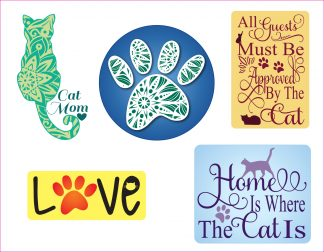Cool Cats Decal Fun Pack - For cell phones, tablets, scrpabooks, and more