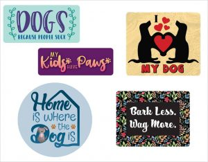 Dog Days Decal Fun Pack - For cell phones, tablets, scrpabooks, and more