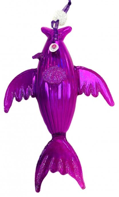 Sealife Glass Christmas Ornament - Fish