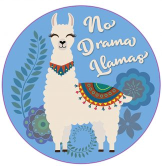 No Drama Llamas Decal - For cell phones, tablets, scrpabooks, and more