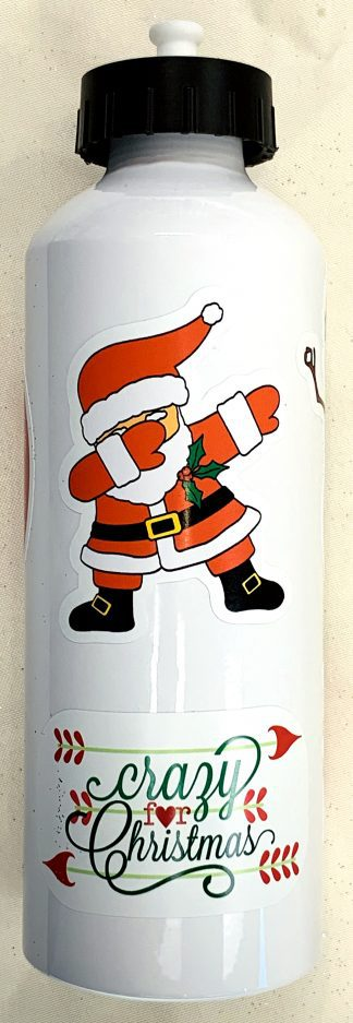 Christmas Decals - On water bottle