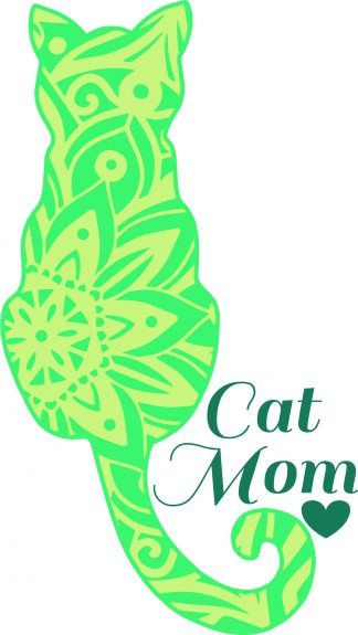 Cat Mom Decal - For cell phones, tablets, scrpabooks, and more
