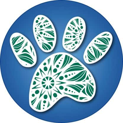 Deco Cat's Paw Decal - For cell phones, tablets, scrpabooks, and more