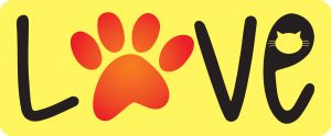 Love Cat Paw Decal - For cell phones, tablets, scrpabooks, and more