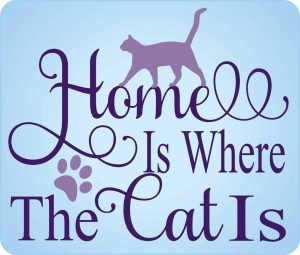 Home is Where the Cat Is Decal - For cell phones, tablets, scrpabooks, and more