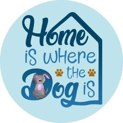 Home is Where the Dog Is Decal - For cell phones, tablets, scrpabooks, and more