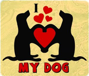 I Heart My Dog Decal - For cell phones, tablets, scrpabooks, and more