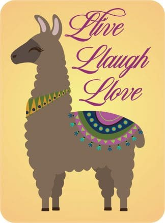 Live Laugh Love Llama Decal - For cell phones, tablets, scrpabooks, and more