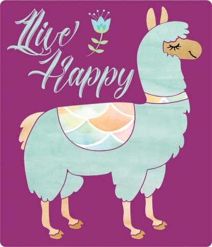 Live Happy Llama Decal - For cell phones, tablets, scrpabooks, and more