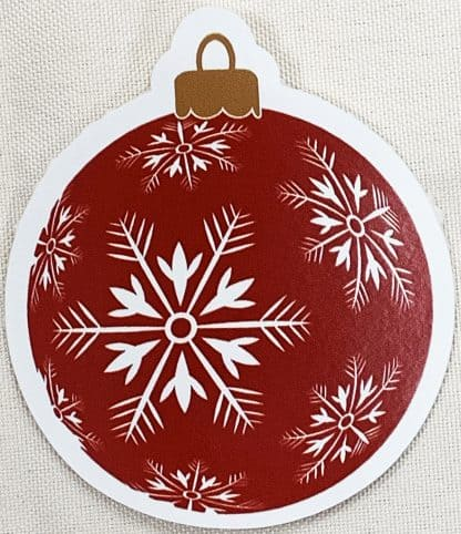 Chrostmas Ornament Decal - For cell phones, tablets, scrpabooks, and more