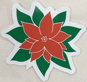 Poinsettia Decal - For cell phones, tablets, scrpabooks, and more