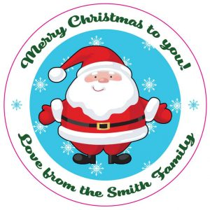 Custom Christmas label - santa