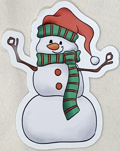 Snowman Decal - For cell phones, tablets, scrpabooks, and more