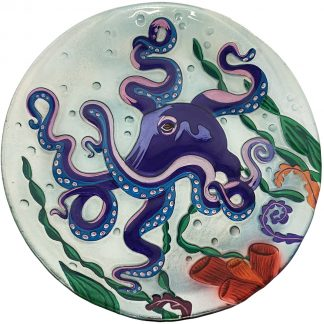 octopus glass plate