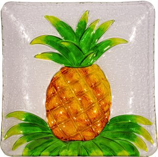 pineapple glass plate
