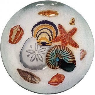 seashell glass plate