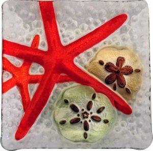 starfish glass plate