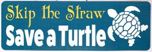 skip the straw decal
