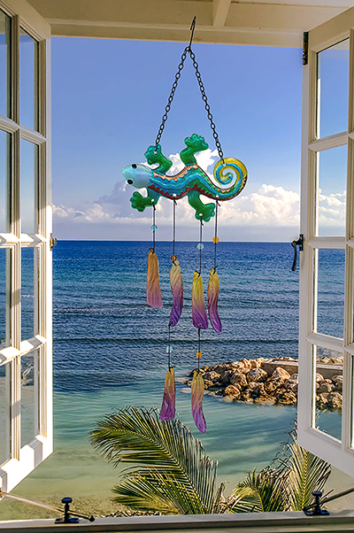 Gecko Glass Wind Chime 1