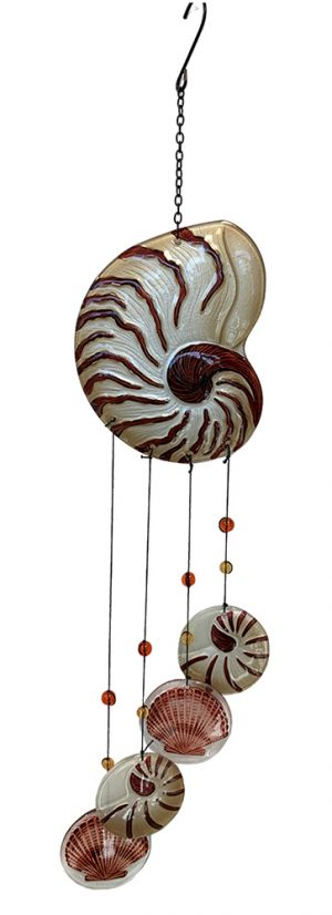 glass nautilus wind chime