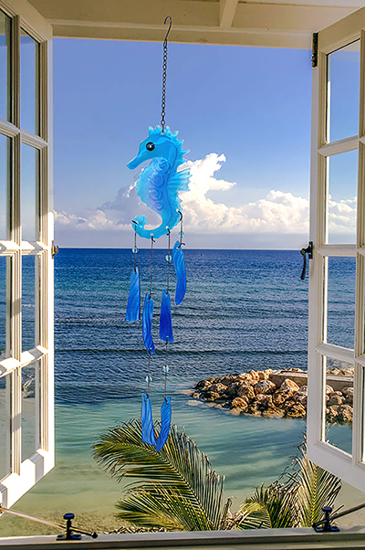 Seahorse Glass Wind Chime 1